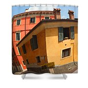 Traffic Mirror Soave Italy Shower Curtain