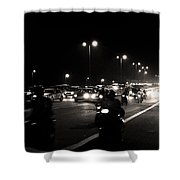 Traffic On Indian Roads Shower Curtain