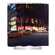 Traffic On The Street At Night, 23rd Shower Curtain