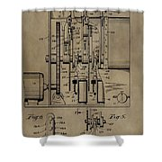 Traffic Signal Patent Shower Curtain