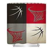 Trail Blazers Ball And Hoop Shower Curtain