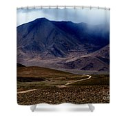 Trail Down From Muztagh Ata Shower Curtain