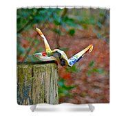 Trail Origami Shower Curtain