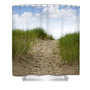 Trail Over The Dune To The Summer Beach Shower Curtain