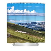 Trail Ridge Road In Rocky Mountain National Park Shower Curtain