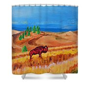 Monarch Of The Plains Shower Curtain