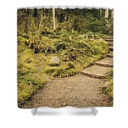 Trail Through The Moss Shower Curtain