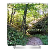 Trail To Devil's Punch Bowl Wildcat Den Shower Curtain