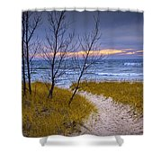 Trail To The Beach Shower Curtain