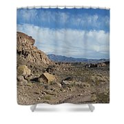 Trail To The Mountains Shower Curtain
