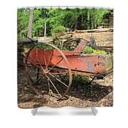 Trailer Flowerbed Shower Curtain