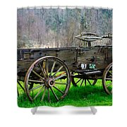 Trailer For Sale Or Rent Unframed Shower Curtain