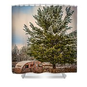 Trailer Trash Shower Curtain