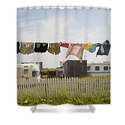 Trailers In North Rustico Shower Curtain by Elena Elisseeva