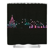 Trailing Snowflakes Shower Curtain