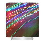 Trailing Xmas Lights Shower Curtain