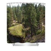 Trails In Spokane Shower Curtain