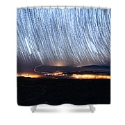 Trails Of Stars Over Big Island Shower Curtain