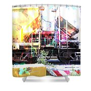 Train Abstract Blend 1 Shower Curtain