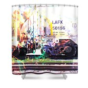 Train Abstract Blend 6 Shower Curtain