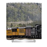 Train Arriving In Silverton Shower Curtain