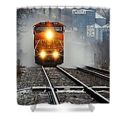 Train At Alma Wi Shower Curtain