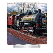 Train At Olmsted Falls - 1 Shower Curtain