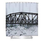 Train Bridge Over The Genesee River Shower Curtain
