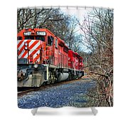 Train - Canadian Pacific Engine 5937 Shower Curtain