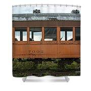 Train Coach Windows Shower Curtain
