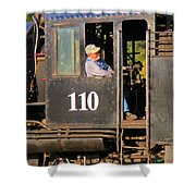 Train Conductor Shower Curtain