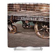 Train Depot Baggage Cart 2td Shower Curtain