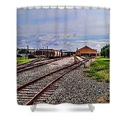 Train Depot Shower Curtain