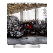 Train - Engine - 1218 - End Of The Line  Shower Curtain