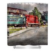 Train - Engine - Black River Western Shower Curtain