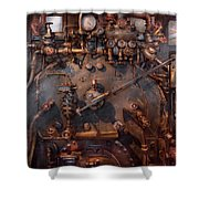 Train - Engine - Hot Under The Collar  Shower Curtain by Mike Savad