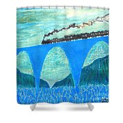 Train For A New World By Taikan Shower Curtain