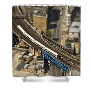 Train In London Shower Curtain