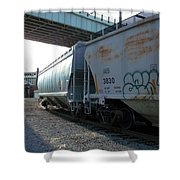 Train In The City Shower Curtain
