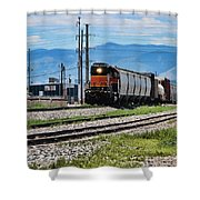 Train In The Mile High Shower Curtain