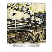Train Is Coming Two Shower Curtain