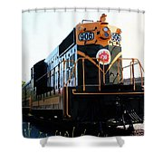 Train Museum - End Of The Line - Canadian National Railway Shower Curtain
