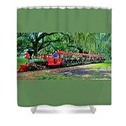 Train - New Orleans City Park Shower Curtain