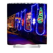 Train Of Lights Shower Curtain