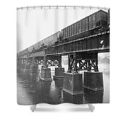 Train On A Trestle Shower Curtain