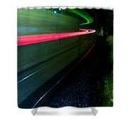 Train Pass By Shower Curtain
