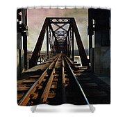 Train Rail Bridge  Shower Curtain