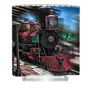 Train Ride Magic Kingdom Shower Curtain