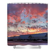 Train Setting Shower Curtain