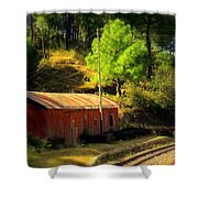 Train Shed Shower Curtain